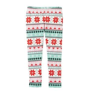 Carter's fair isle leggings 4T